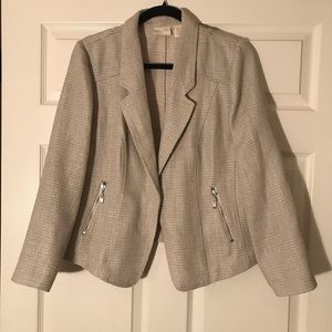 Chico's Cream Blazer Size 1